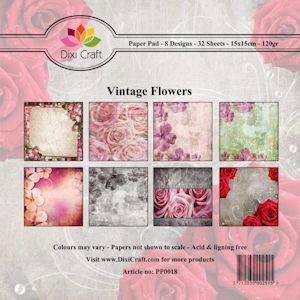 Dixi Paper Pack - Vintage flowers PP0018