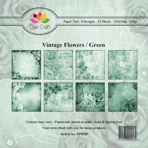 Dixi Paper Pack - Vintage flowers green PP0020