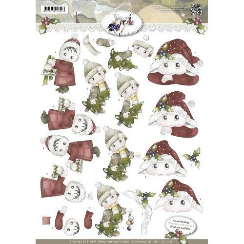 3D Knipvel - Precious Marieke - Wonderful Christmas - Kerstkindj