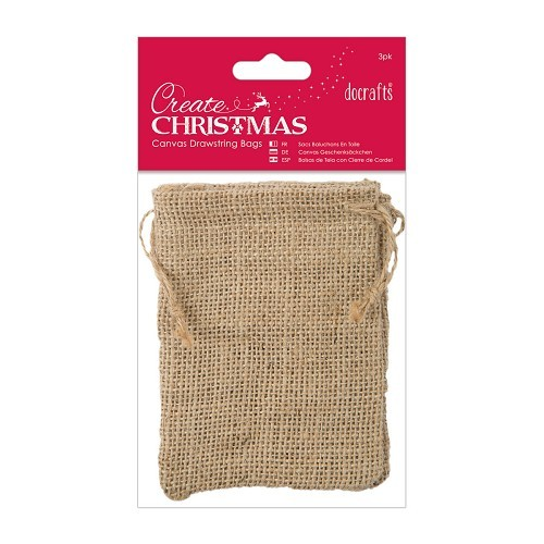 Jute Drawstring Bags (3pk)