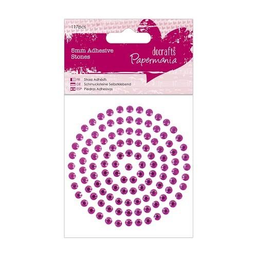 5mm Adhesive Stones (117pcs) - Pink