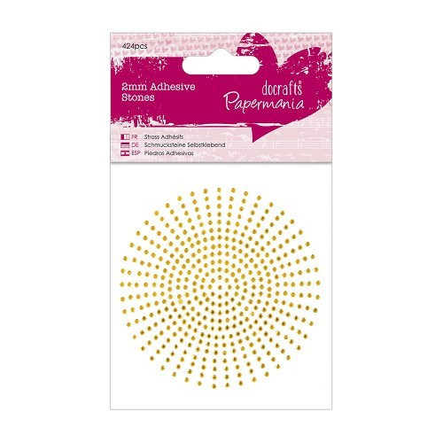 2mm Adhesive Stones (424pcs) - Gold