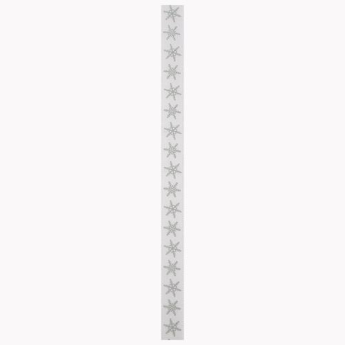 Christmas Ribbon (3m) - Silver Snowflakes