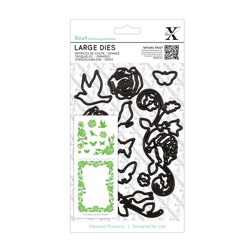 Large Dies (10pcs) - Rose Flourishes