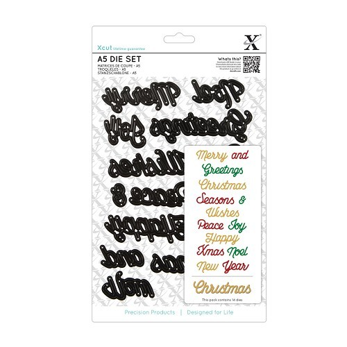 A5 Die Set (14pcs) - Christmas Sentiments