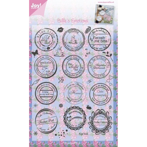 Clear stamps - tekst DE Alles Liebe