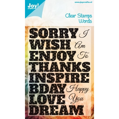 Clear stamps - tekst ENG I am sorry