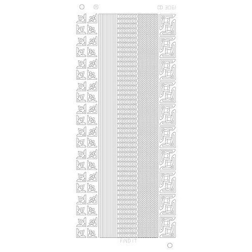 Various Lines Corners Platinum zilver