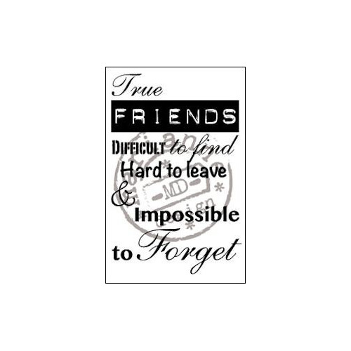 Clear stamp true friends #AUG14