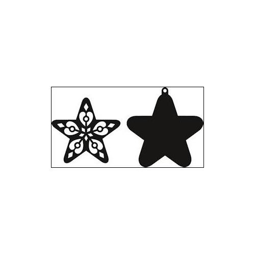 Craftables stencil filigree star #AUG14