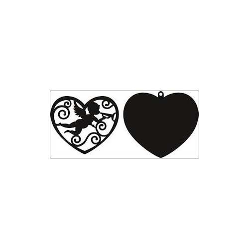 Craftables stencil filigree angel heart #AUG14