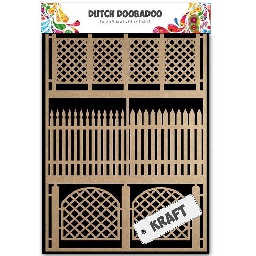 Dutch Doobadoo Dutch Paper Art Kraft - Fences A5