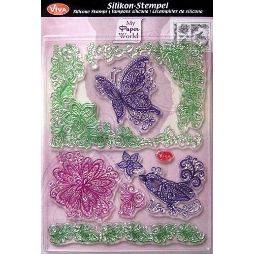 Silicone Stamp Scribble Butterfly