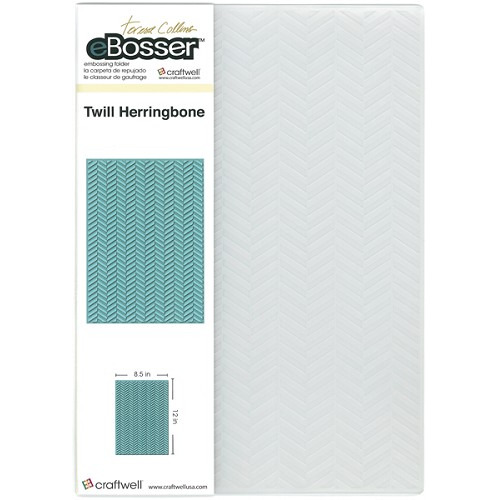 Craftwell 8.5 x 12 Teresa Collins Embossing Folder - Twill Herri