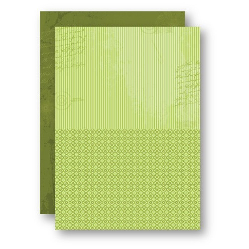 Doublesided background sheets A4 green stripes