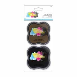 Dye ink Pad (2Pk) - Brown And Black
