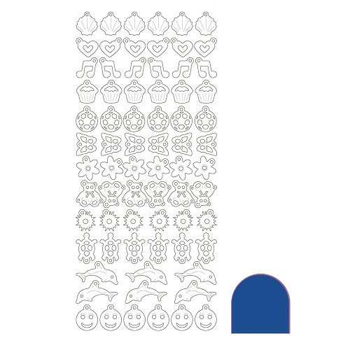 Charm sticker - Mirror Blue