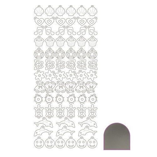 Charm sticker - Mirror Silver
