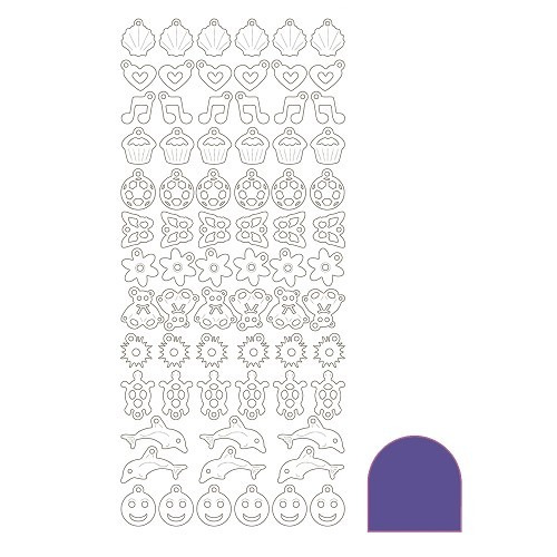 Charm sticker - Mirror Violet