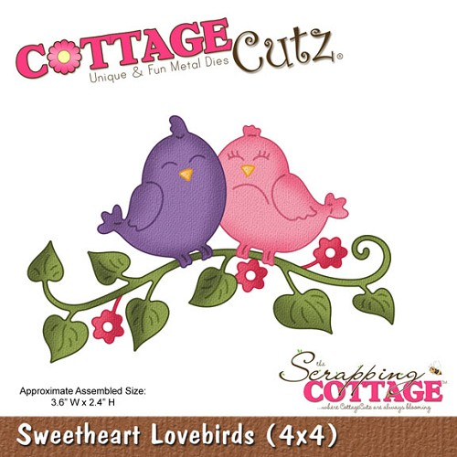 CottageCutz SWEETHEART LOVEBIRDS Die