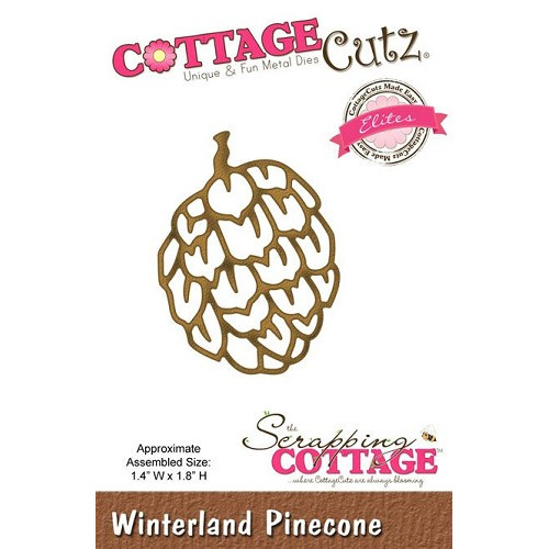 Scrapping Cottage CottageCutz Winterland Pinecone (Elites)