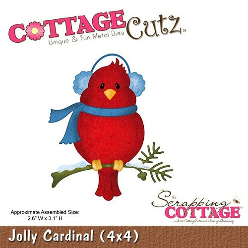 Scrapping Cottage CottageCutz Jolly Cardinal