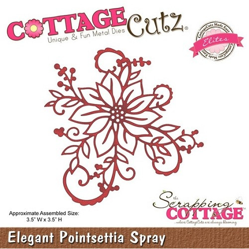 Cottage Cutz Elegant Pointsettia