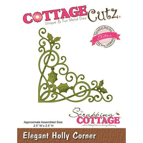 Scrapping Cottage CottageCutz Elegant Holly Corner