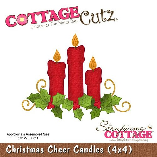 Scrapping Cottage CottageCutz Christmas Cheer Candles