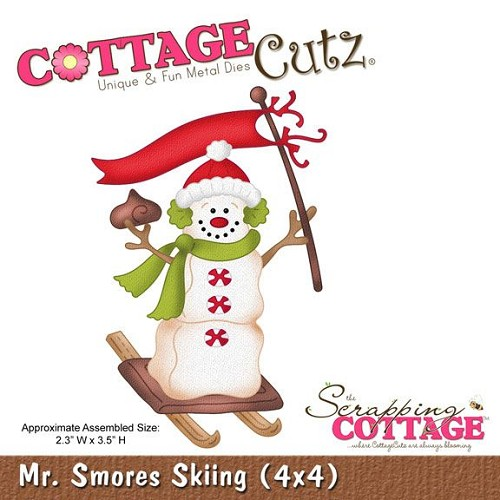 Scrapping Cottage CottageCutz Mr. Smores Skiing