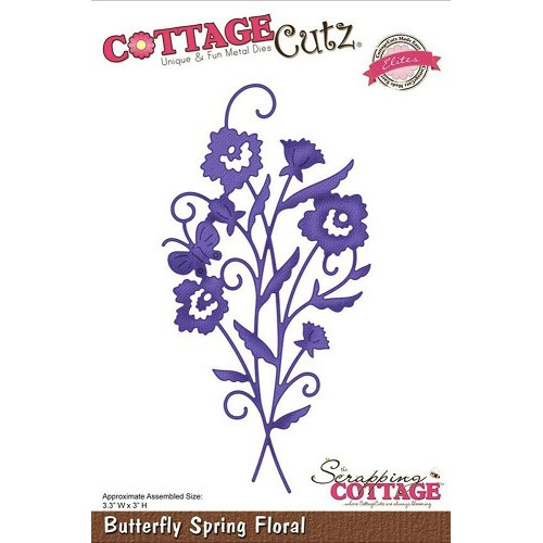Scrapping Cottage Cottage Cutz Butterfly Spring Floral