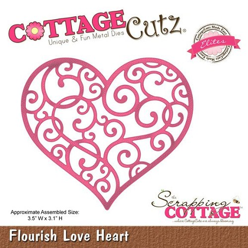 Scrapping Cottage Flourish Love Heart (Elites)
