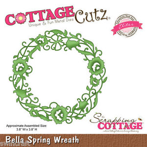 COTTAGE CUTZ ELITES DIES - Cutting die BELLA SPRING WREATH