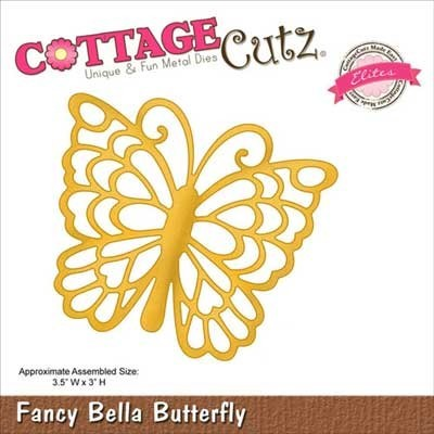 CottageCutz Fancy Bella Butterfly Elites Die