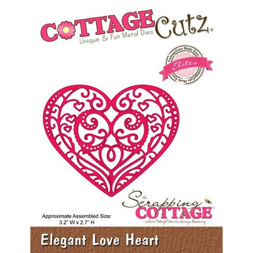 Scrapping Cottage Elegant Love Heart (Elites)