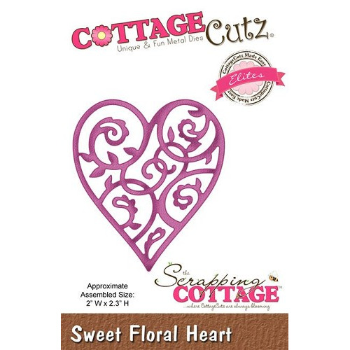 Scrapping Cottage Sweet Floral Heart (Elites)