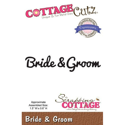 Scrapping Cottage CottageCutz Expressions Bride & Groom