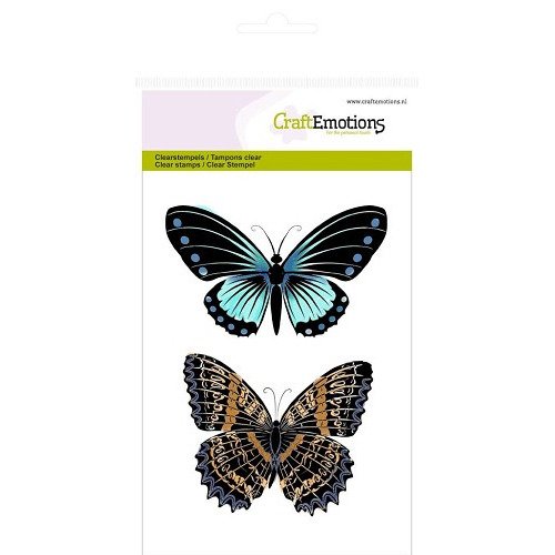 CraftEmotions clearstamps A6 -  vlinders nr 1 Botanical