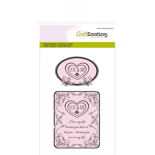 CraftEmotions clearstamps A6 - You & Me Botanical