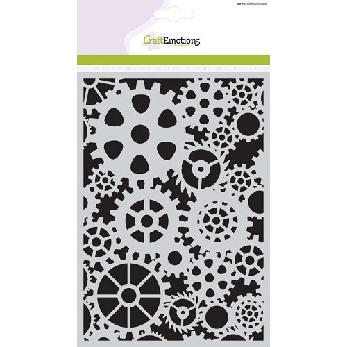CraftEmotions Mask stencil tandwielen A5 - 185070/1102
