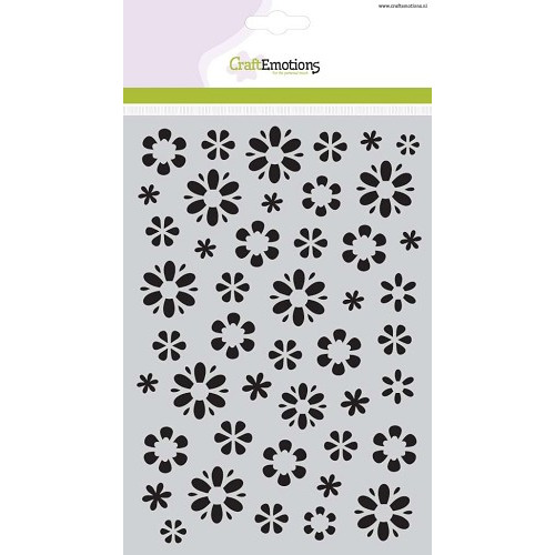 CraftEmotions Mask stencil fantasie bloem A5 - 185070/1105