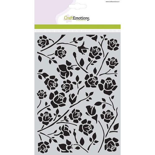 CraftEmotions Mask stencil Botanical rozen A5