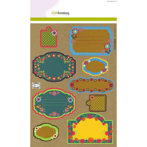 CraftEmotions Kraft paper design Folklore 4 vel A4 (NEW 04-2014)