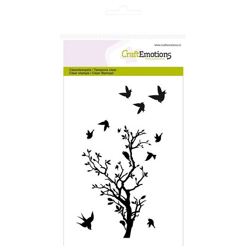 CraftEmotions clearstamps A6 - tak mt vogels