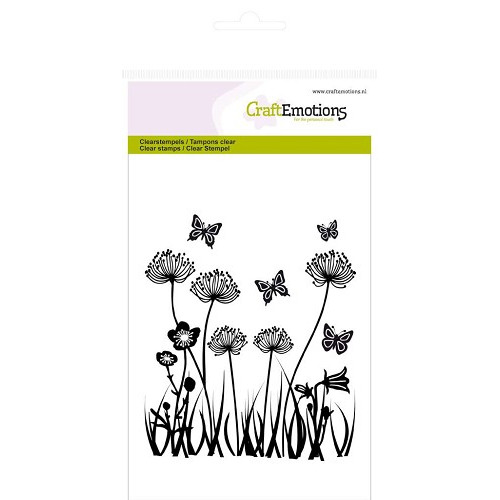 CraftEmotions clearstamps A6 - veldbloemen