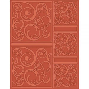 Craftwell eBosser A4 Embossing Folder - Swirltangle