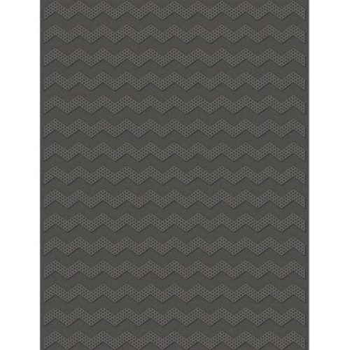 eBosser Teresa Collins A4 Embossing Folder - Dotted Chevron b