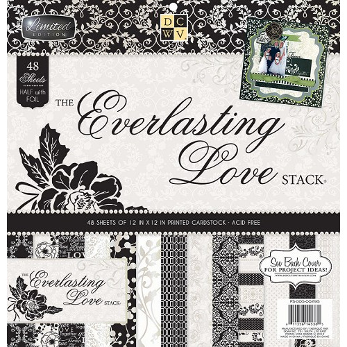 DCWV 12 x 12 everlasting love stack~ 48ct.