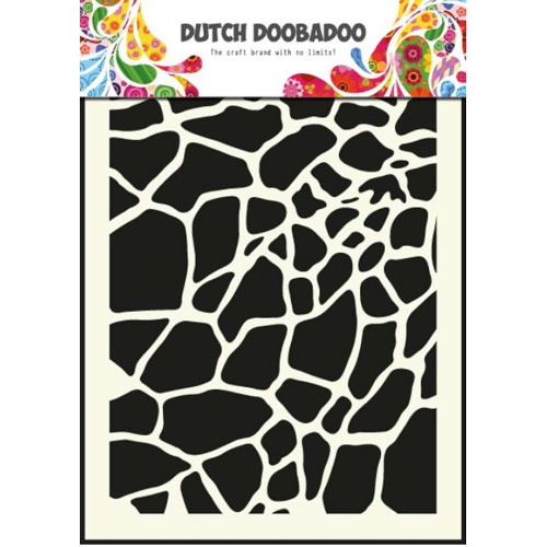1 ST (1 ST) Dutch Mask Art stencil giraffe - A5