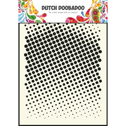 1 ST (1 ST) Dutch Mask Art stencil faded dots - A5
